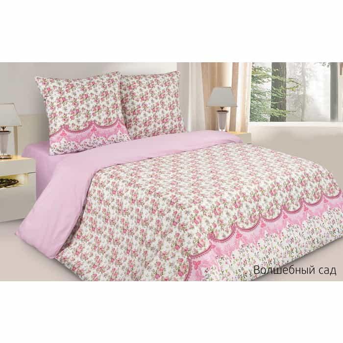 Комплект постельного белья Ecotex Поэтика Евро с резинкой Волшебный сад (4660054347559)