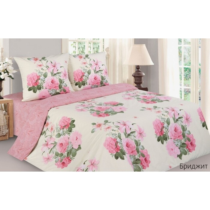 Комплект постельного белья Ecotex Евро Поэтика Бриджит (4650074958934)