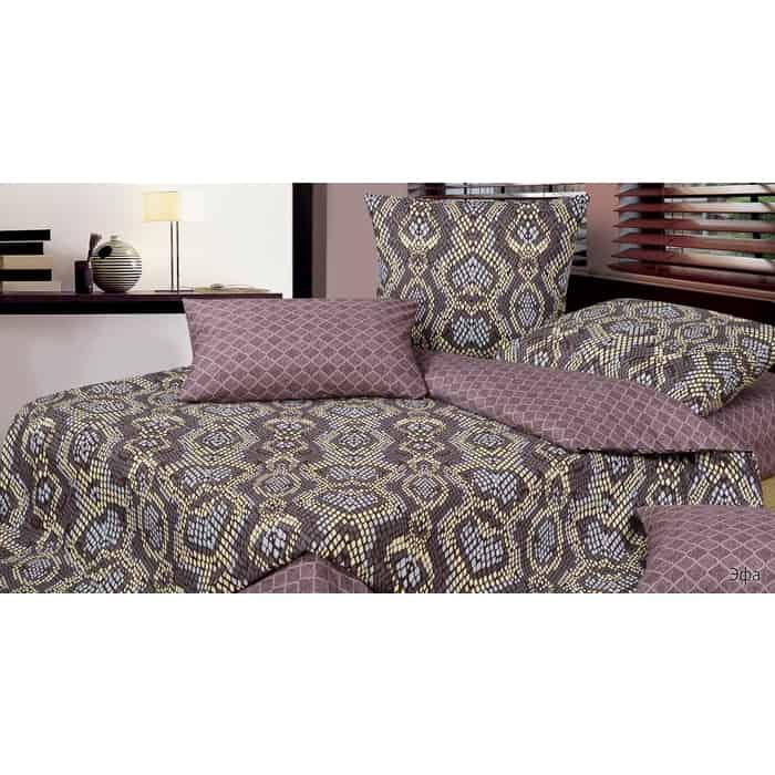 Комплект постельного белья Ecotex Гармоника Евро Эфа (4660054346330) комплект постельного белья ecotex евро сатин гармоника алоха 4660054344640