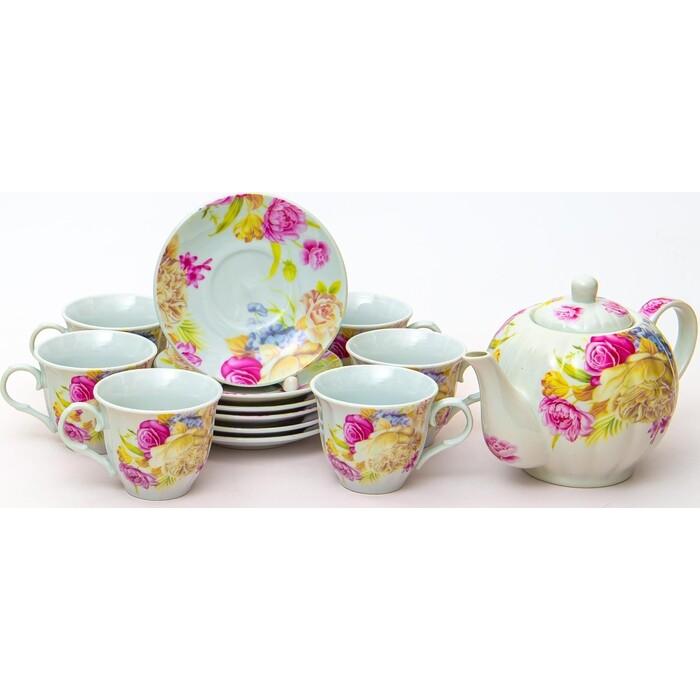 Чайный сервиз 13 предметов OLAFF Флора (124-01171)