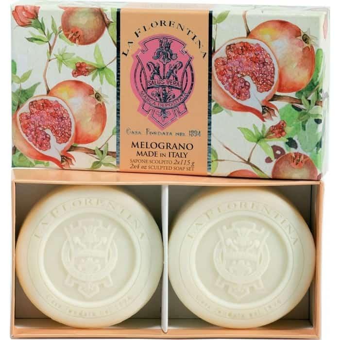 Мыло La Florentina в наборе 2*115 г Pomegranate / Гранат