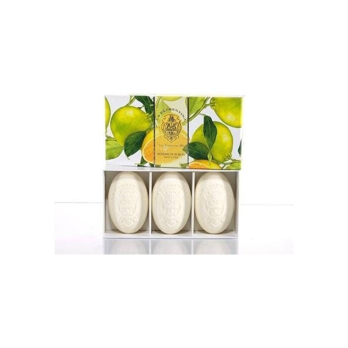 Мыло La Florentina в наборе 3*150 г Citrus / Цитрус