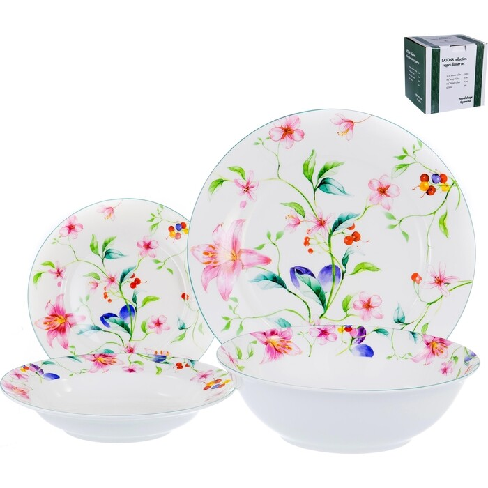 Набор столовой посуды 19 предметов Balsford Латона ароматный мир (104-03007) сервиз столовый латона великолепный день 19 предметов тм balsford артикул 104 03014