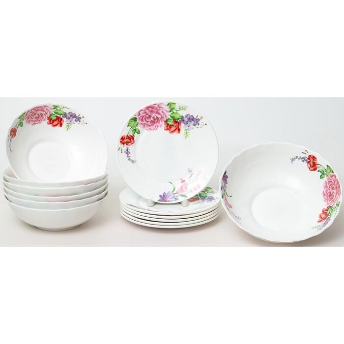 Набор столовой посуды 13 предметов OLAFF Розетта (130-21149)