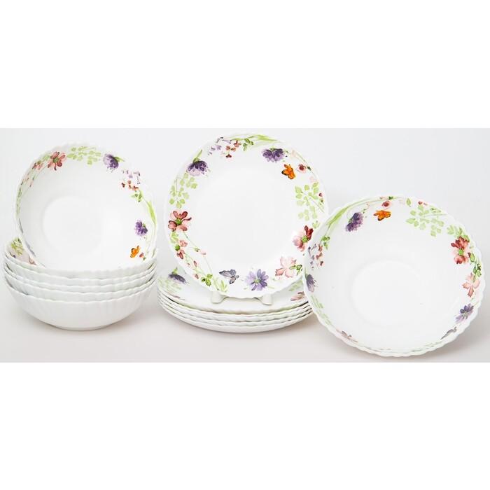 Набор столовой посуды 13 предметов OLAFF Акварель (131-21024)