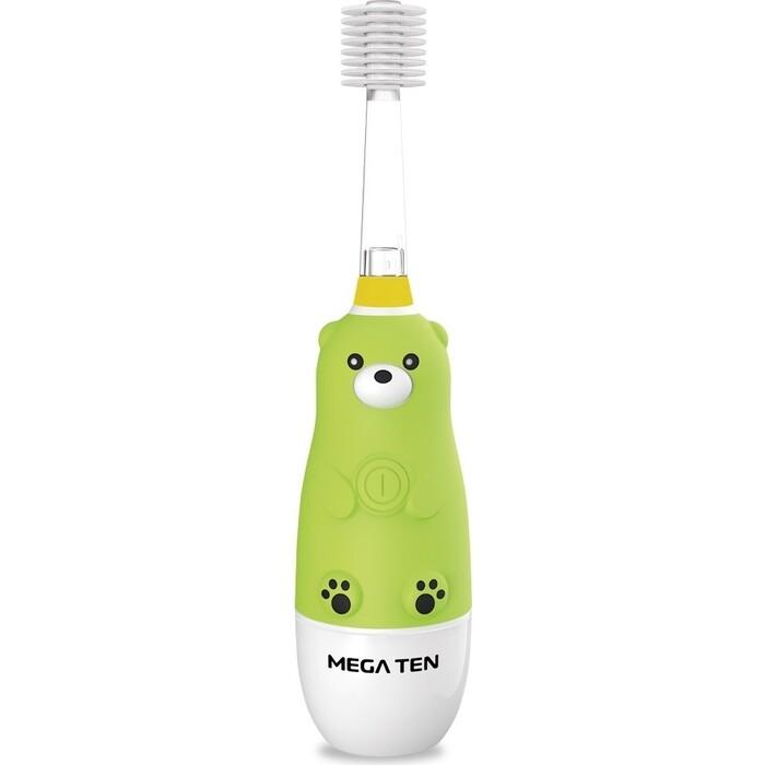 Детская электрическая зубная щетка MEGA Ten Kids Sonic 121-MKS031 Мишка звуковая зубная щетка mega ten kids sonic обезьянка фиолетовый белый