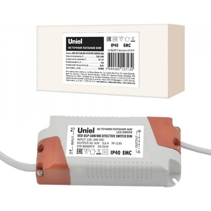Блок питания Uniel (UL-00006491) 42-63V 36W IP40 0,6A UED-ULP-36W/MB