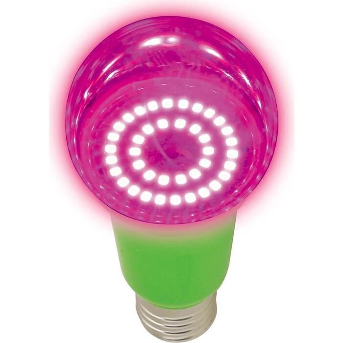 Лампа Uniel светодиодная для растений (UL-00004582) E27 15W прозрачная LED-A60-15W/SPSB/E27/CL PLP30GR