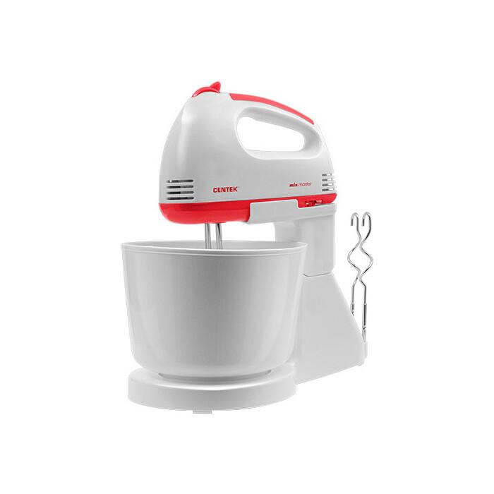 Миксер Centek CT-1113 бело-красный миксер с чашей centek ct 1107