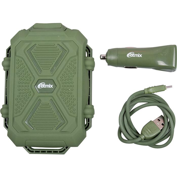Автомобильное зарядное устройство Ritmix RM-3499DC green