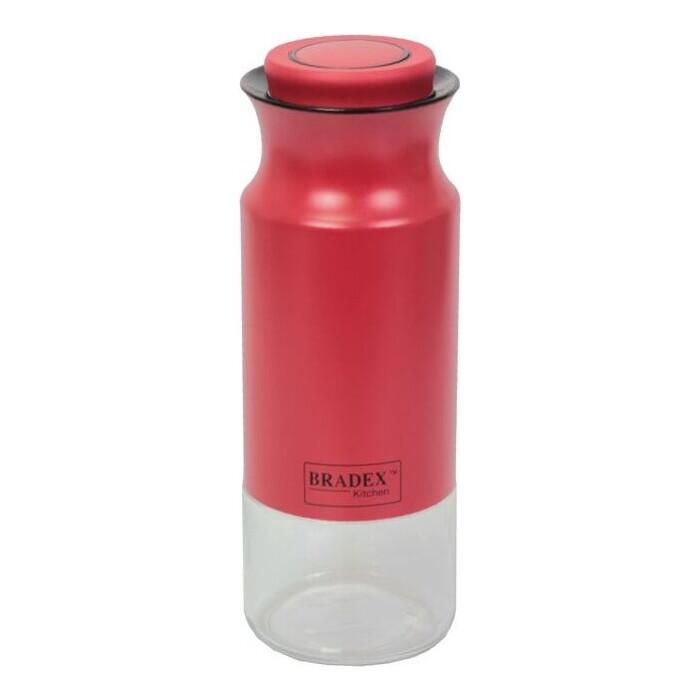 Банка для сыпучих продуктов Bradex 1.4 л красная (TK 0375)