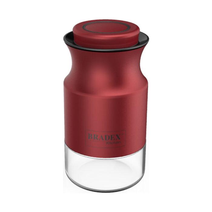 Банка для сыпучих продуктов Bradex 0.84 л красная (TK 0379)