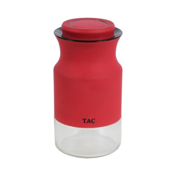 Банка для сыпучих продуктов Bradex 0.84 л TAC красная (TK 0404)