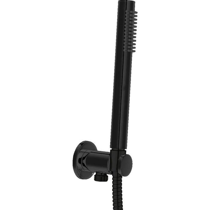 Душевой набор Cezares Ovest с гибким шлангом 150 см, черный матовый (CZR-DEFA3-NOP)