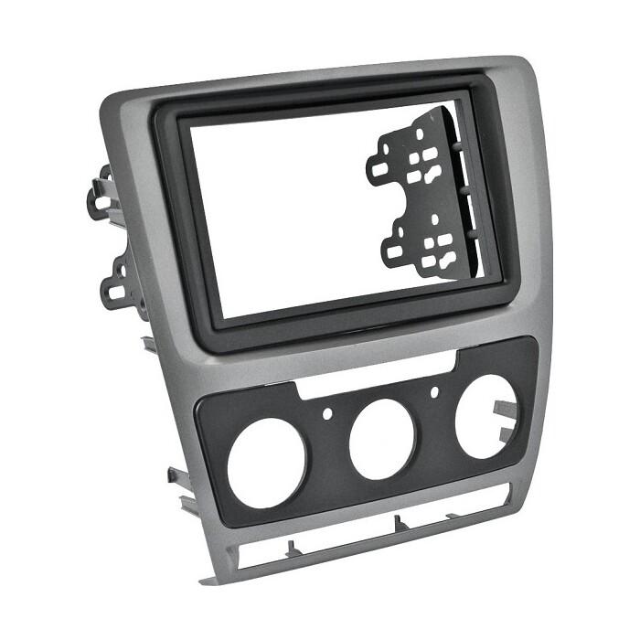 Рамка Incar SKODA Octavia (A5) 04-13 (Manual AC) 2din SILVER (КОМПЛЕКТ)