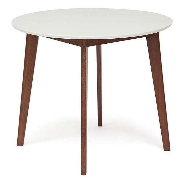Стол обеденный TetChair Bosco белый + коричневый