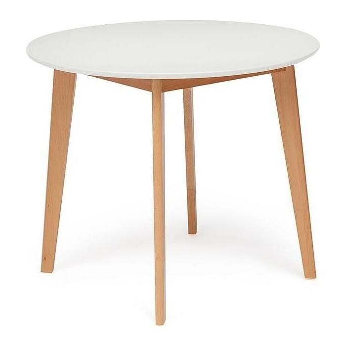 Стол обеденный TetChair Bosco белый + натуральный