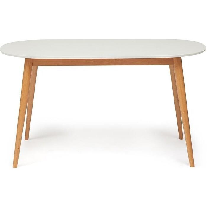 Стол обеденный TetChair Max белый + натуральный