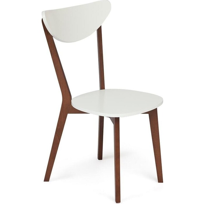 Стул TetChair Maxi белый + коричневый/жесткое сиденье