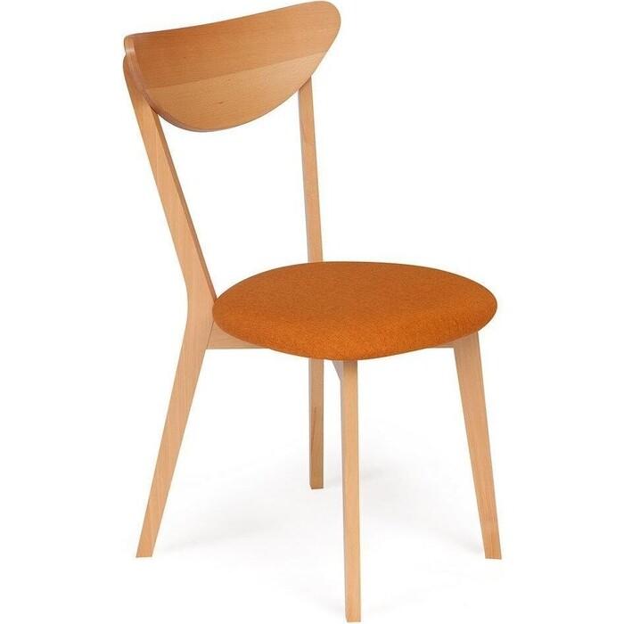Стул TetChair Maxi каркас бук сиденье ткань, натуральный (бук), цвет сиденья оранжевый/мягкое