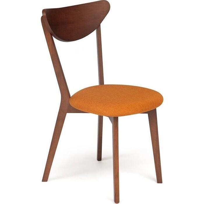 Стул TetChair Maxi коричневый обивка оранжевая/мягкое сиденье
