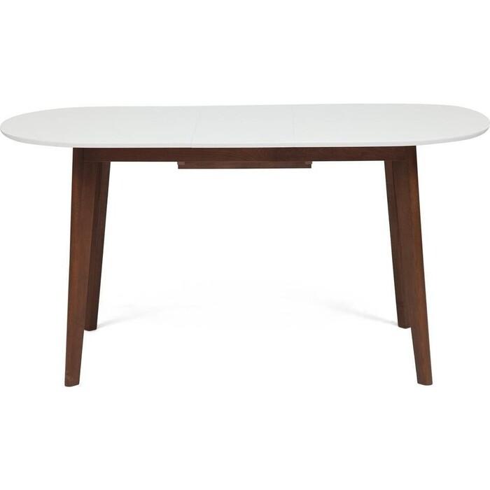 Стол обеденный TetChair Bosco белый + коричневый раскладной