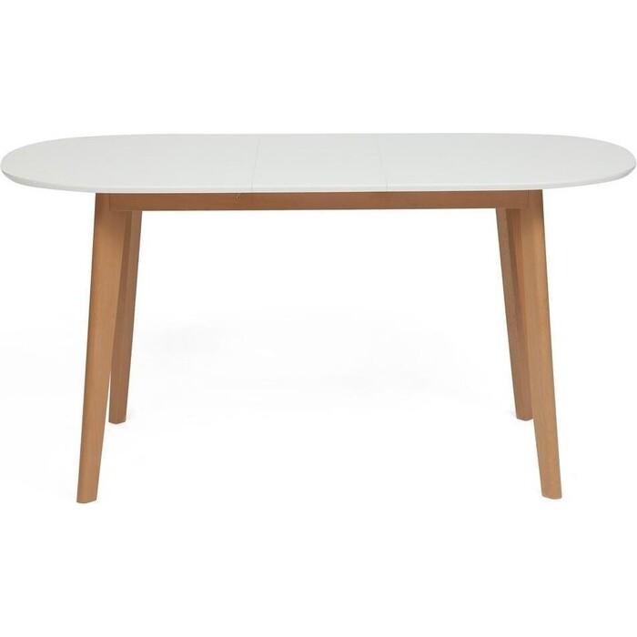 Стол обеденный TetChair Bosco белый + натуральный раскладной