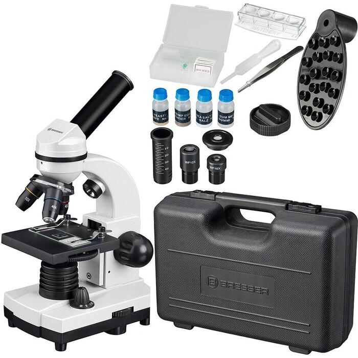 Микроскоп Bresser Junior Biolux SEL 40-1600x, белый, в кейсе