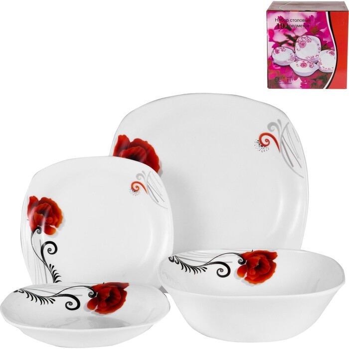 Набор столовой посуды 19 предметов OLAFF (JY-S-19-07)