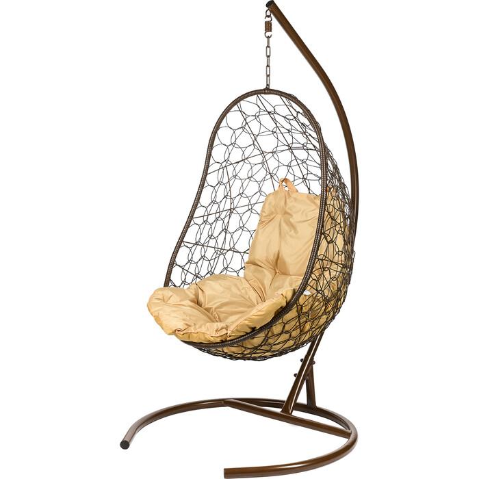 Подвесное кресло BiGarden Easy brown бежевая подушка
