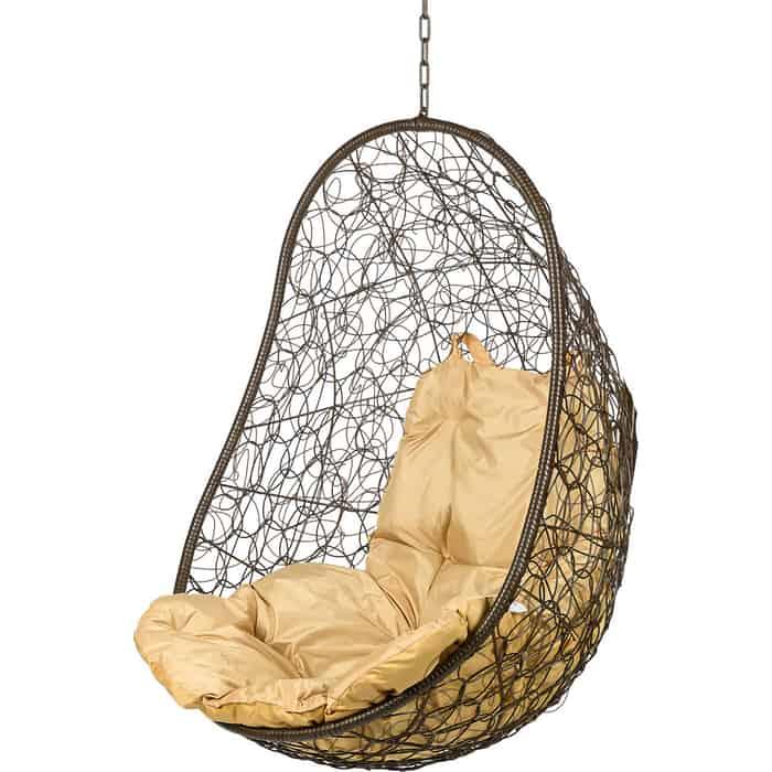 Подвесное кресло BiGarden Easy brown BS без стойки бежевая подушка