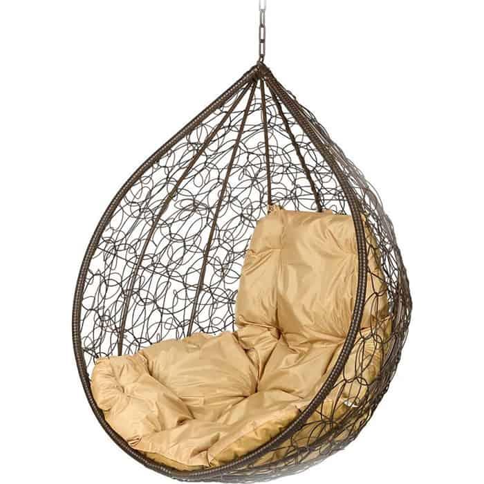 Подвесное кресло BiGarden Tropica brown BS без стойки бежевая подушка