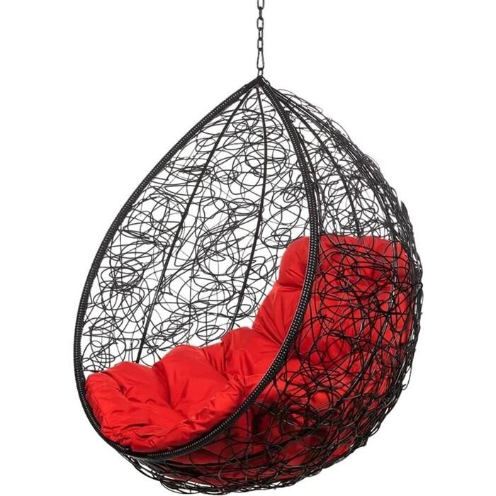 Подвесное кресло BiGarden Tropica black BS без стойки красная подушка