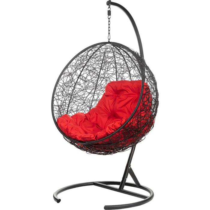 Подвесное кресло BiGarden Kokos black красная подушка