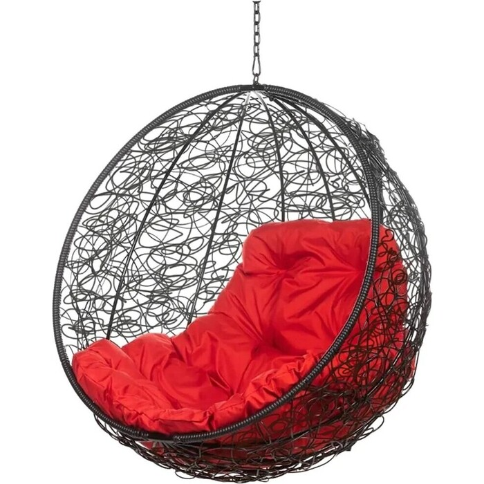 Подвесное кресло BiGarden Kokos black BS без стойки красная подушка