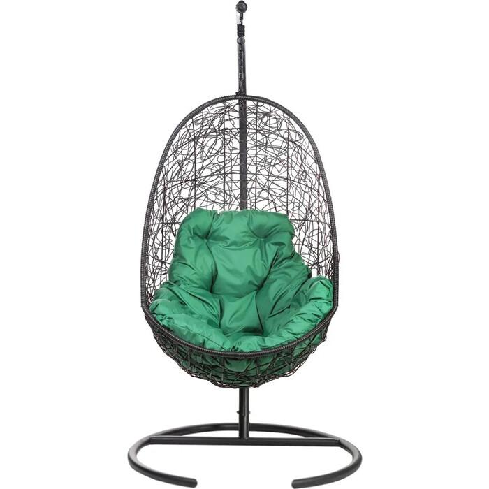 Подвесное кресло BiGarden Easy black зеленая подушка