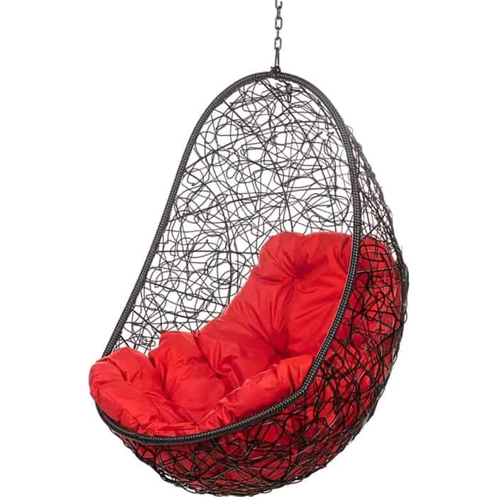 Подвесное кресло BiGarden Easy black BS без стойки красная подушка