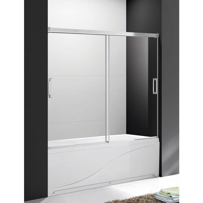 Шторка для ванной Cezares Soft стекло прозрачное (TANDEM-SOFT-VF-2-160/145-C-Cr-IV)