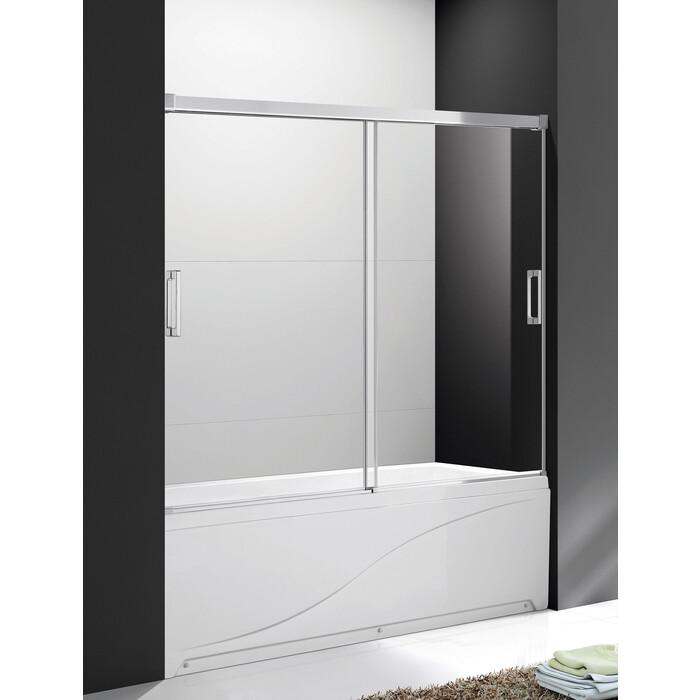 Шторка для ванной Cezares Soft стекло прозрачное (TANDEM-SOFT-VF-2-150/145-C-Cr-IV)