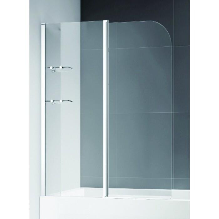 Шторка для ванной Cezares Eco универсальная, стекло прозрачное (ECO-O-V-12-120/140-C-Cr)