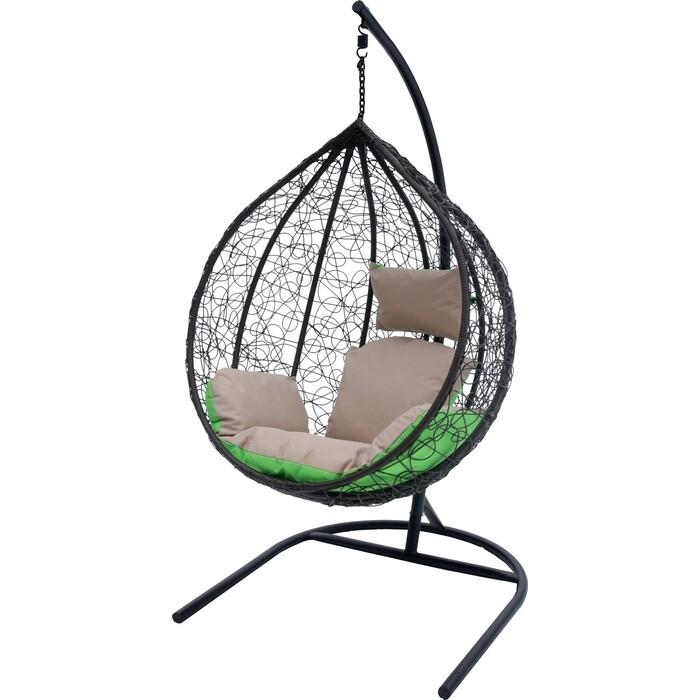 Мебельторг Подвесное кресло Сфера стойка серая/основание серое/корзина серая/подушка бежевая N-907