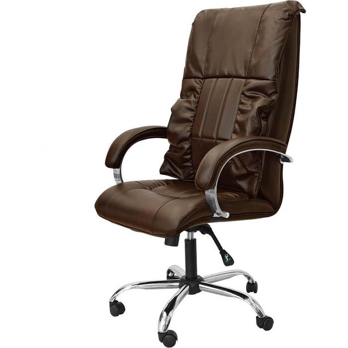 Офисное массажное кресло EGO BOSS EG1001 кофе
