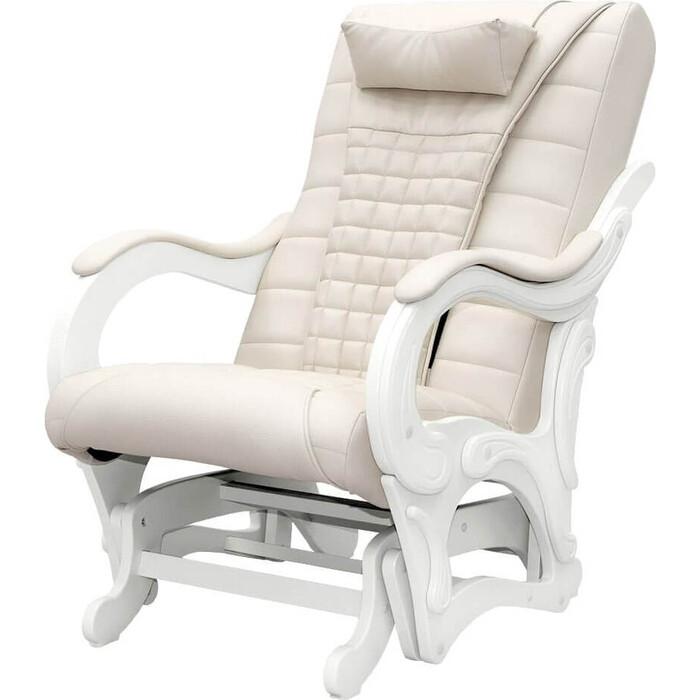 Кресло-глайдер массажное EGO BALANCE EG2003 арпатек светлые подлокотники