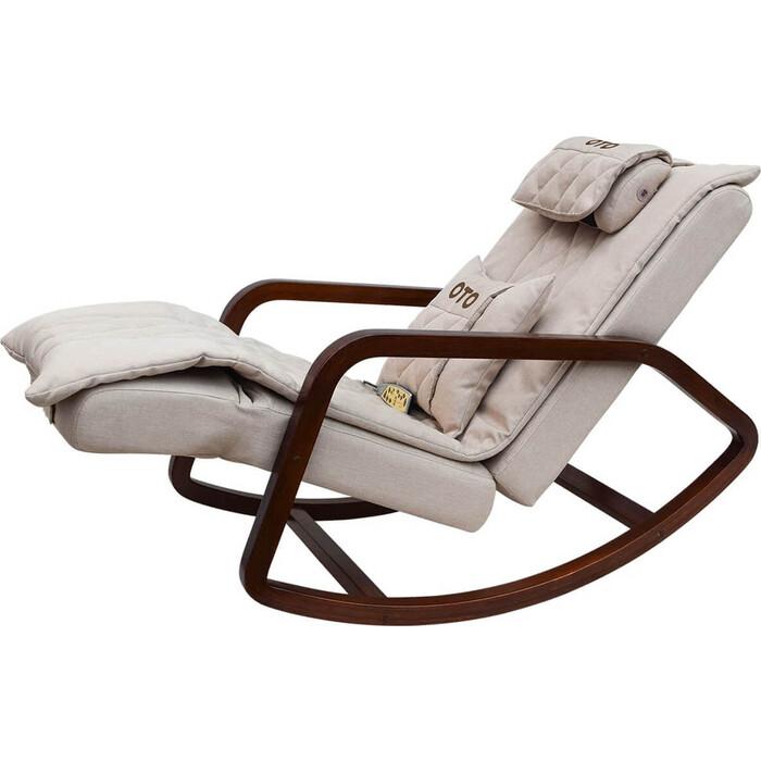 Кресло-качалка массажное OTO Grand Life OT2007 латте рогожка