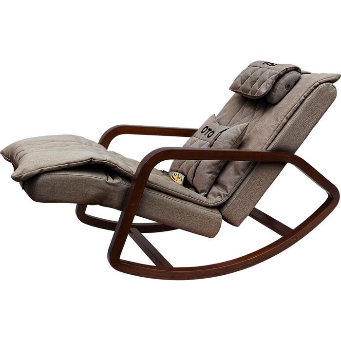 Кресло-качалка массажное OTO Grand Life OT2007 шоколад рогожка