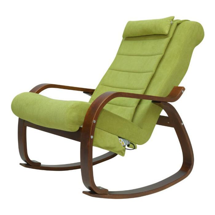 Кресло-качалка массажное EGO Relax EG2005 микрофибра оливковый
