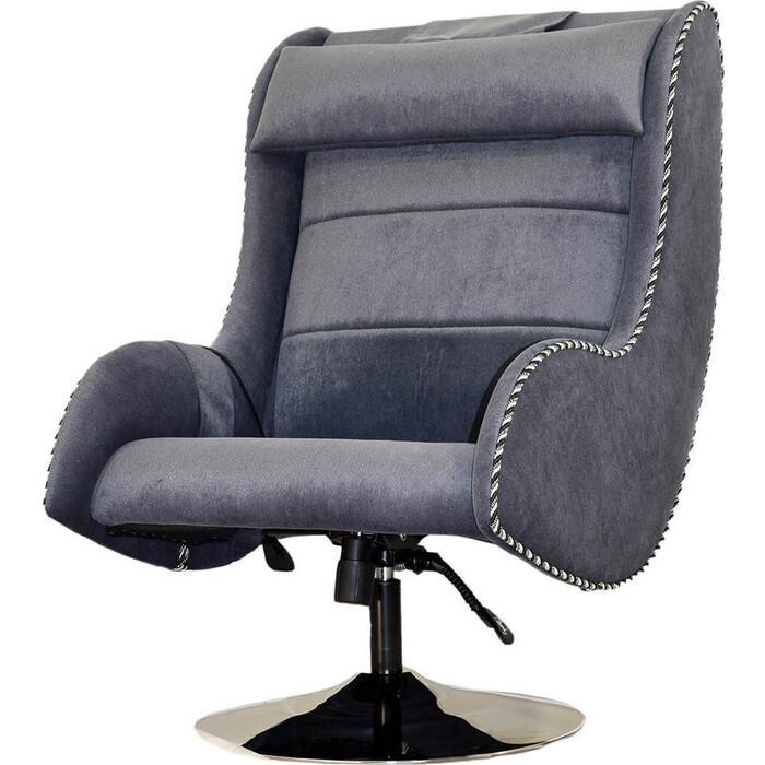 Массажное кресло EGO Max Comfort EG3003 сильвер микрошенилл