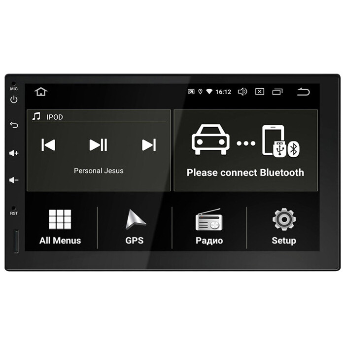 Автомагнитола Incar Universal 7 AHR-9380 Android 9.0/1024*600, DSP, 4GB, Антибликовый экран, wi-fi, BT