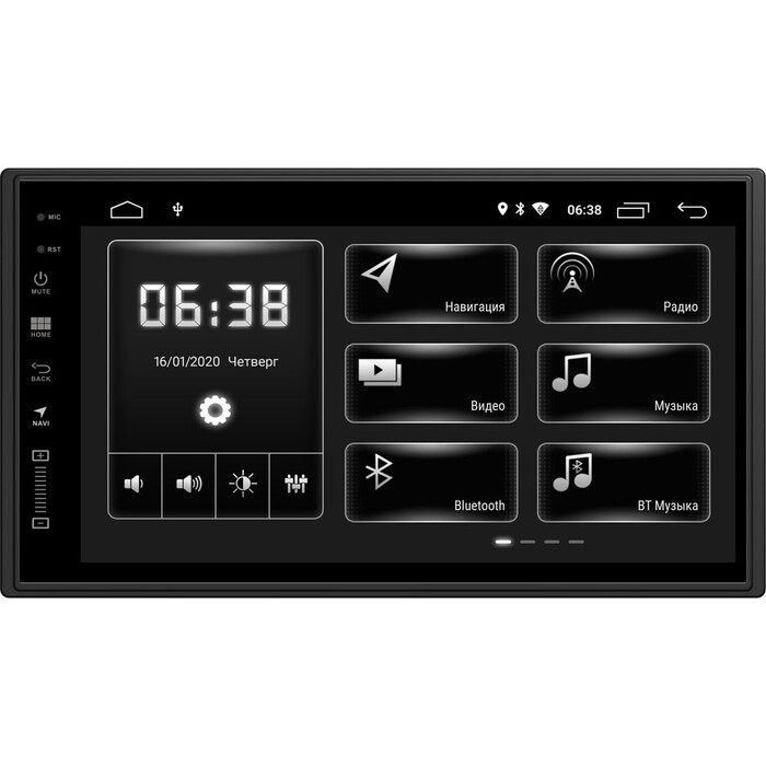 Автомагнитола Incar Universal 7 XTA-7708 Android 10/1024*600, wi-fi, 6.8, чёткие 2 дин (173*98)