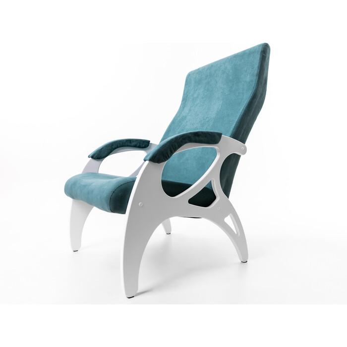 Кресло Мебелик Бергамо ткань изумруд/каркас белый